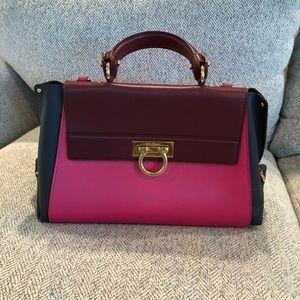 Salvetore Ferragamo Sofia Leather Satchel Bag